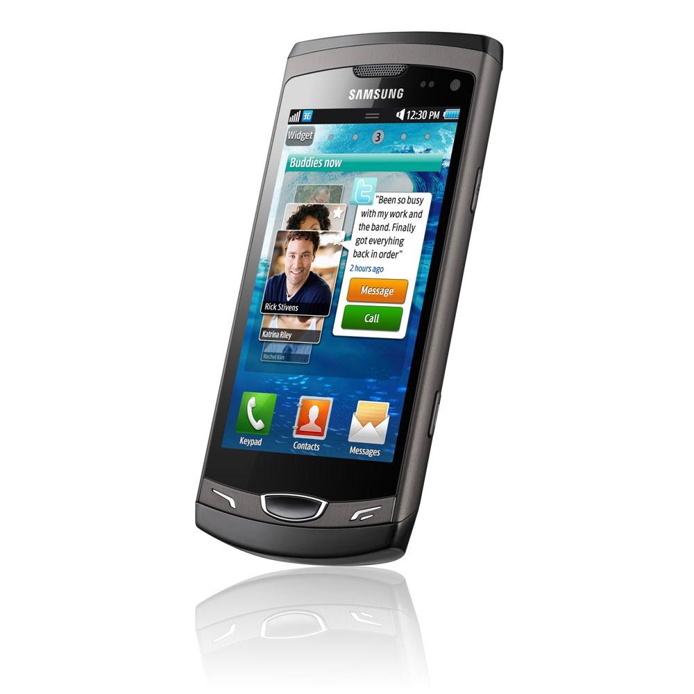 "Mobile & smartphone Samsung S8530 Wave II Grey Smartphone 3G+ avec écran tactile 3.7"" sous Bada"