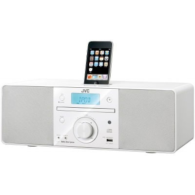 Dock & Enceinte Bluetooth JVC RD-N1WE Blanc JVC RD-N1WE Blanc - Chaine Radio CD portable avec dock iPod