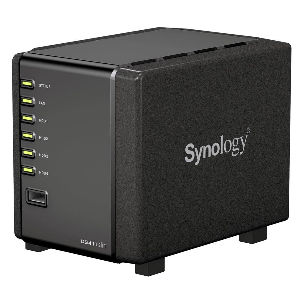 Serveur NAS Synology Disk Station DS411 Slim Barebone Serveur NAS 4 baies