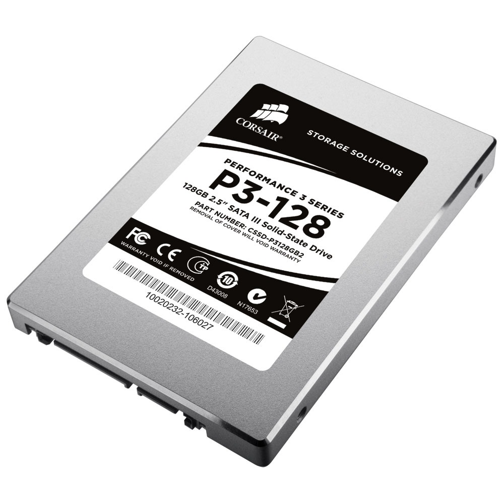 "Disque SSD Corsair Performance 3 Series 128 Go (Produit reconditionné - version bulk) SSD 128 Go 2.5"" Serial ATA 6Gb/s - Produit reconditionné* (Garantie 6 mois)"