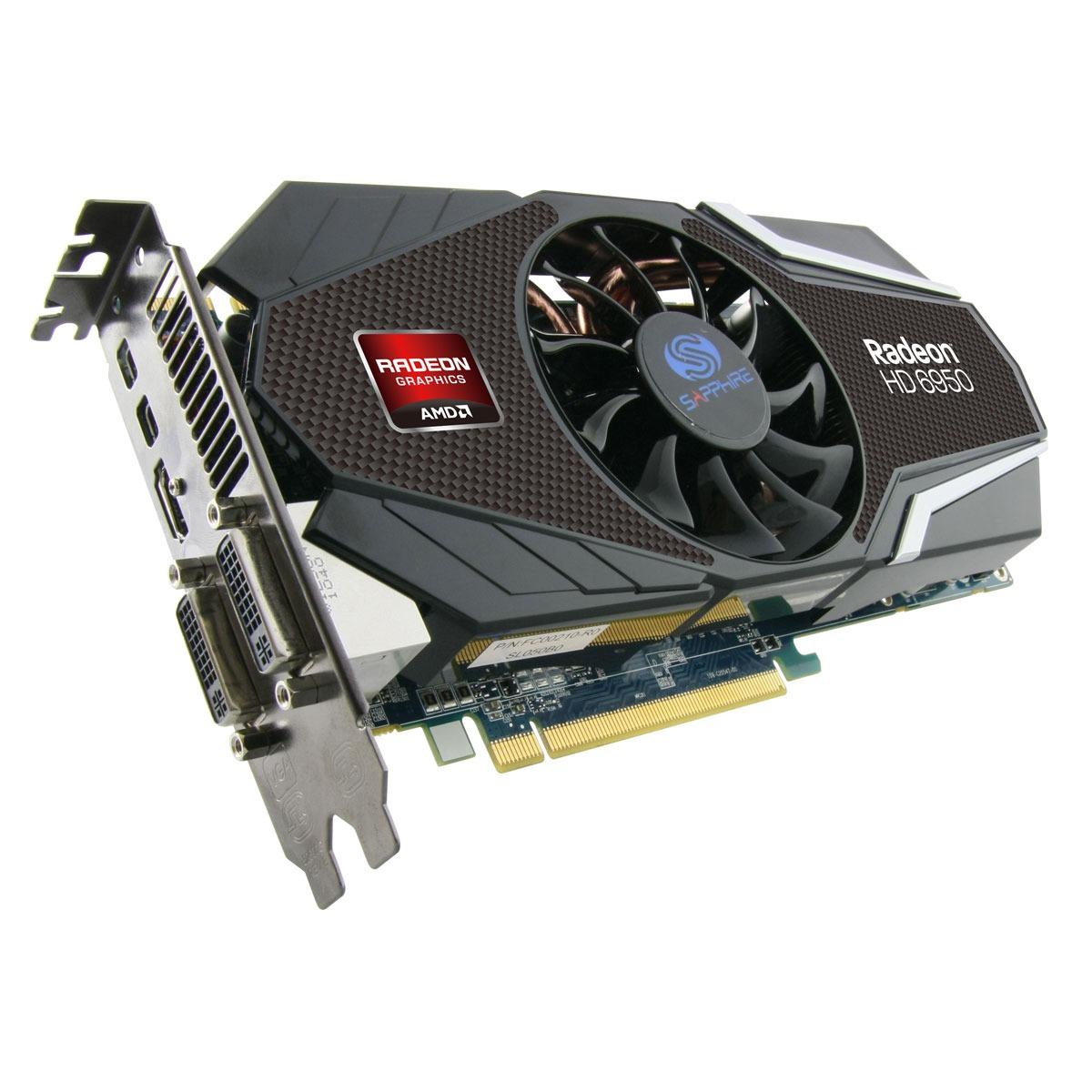 Sapphire Radeon HD 6950 2 GB Dual Mini DisplayPort (11188-00-40R) : achat / vente Carte ...