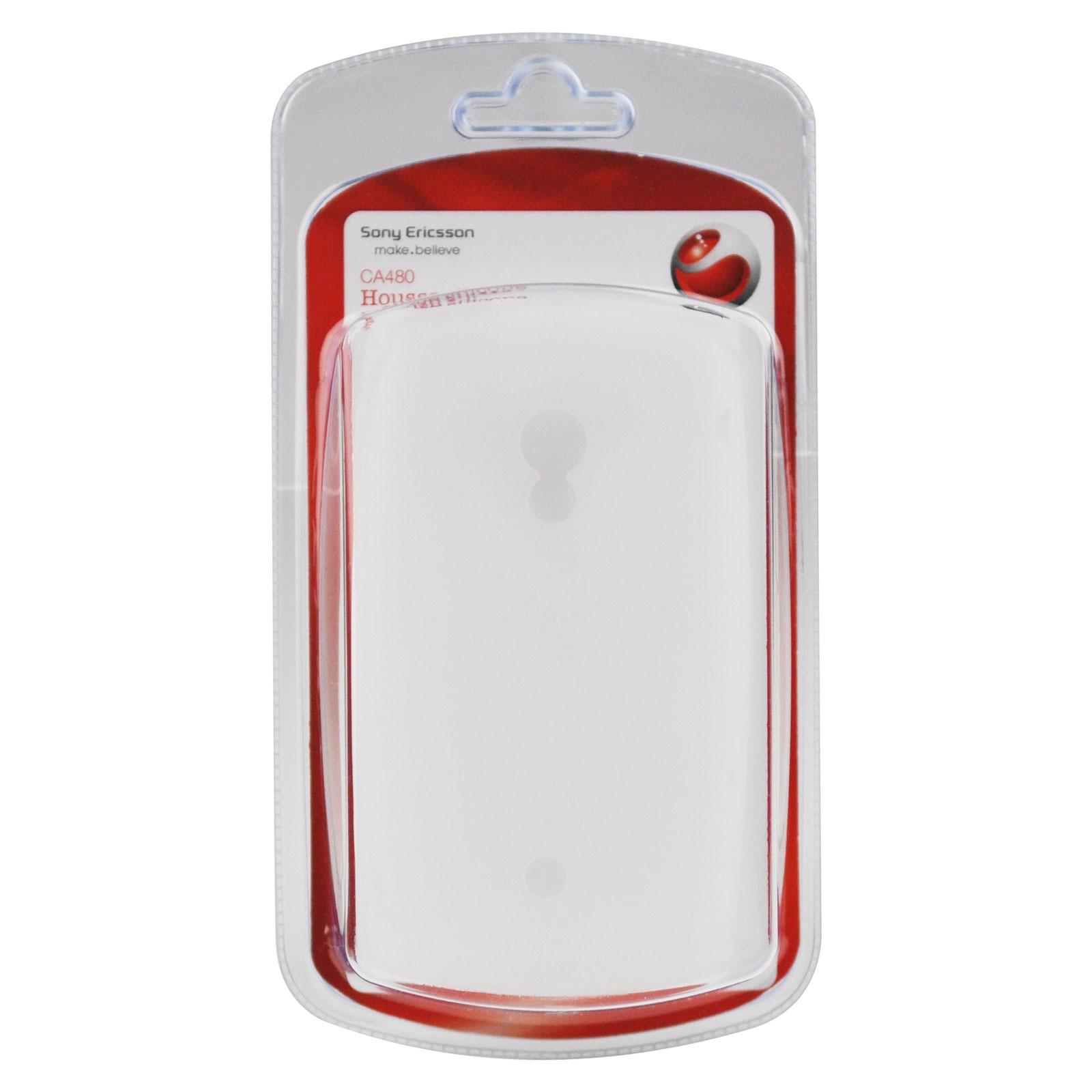 Etui téléphone Sony Ericsson CA480 Blanc Sony Ericsson CA480 Blanc - Housse en silicone pour Xperia X10
