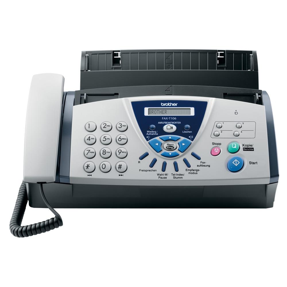 Téléphone FAX Brother FAX-T106 Brother FAX-T106 - Téléphone-fax à Transfert Thermique avec répondeur