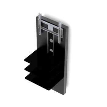 Elmob nikea ni 01 noir meuble tv elmob sur ldlc - Meuble ecran videoprojecteur ...
