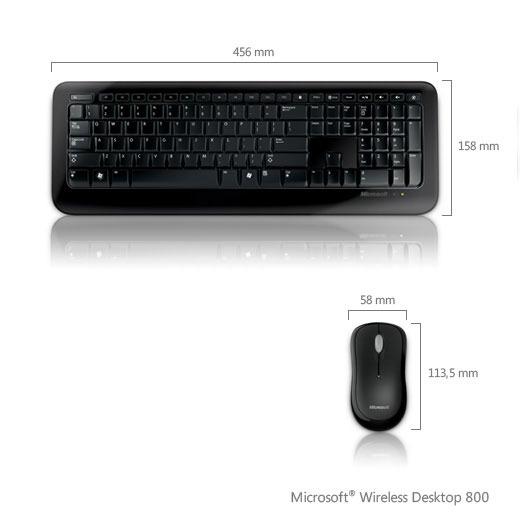 Pack clavier souris Microsoft Wireless Desktop 800 Microsoft Wireless Desktop 800 (AZERTY Français)