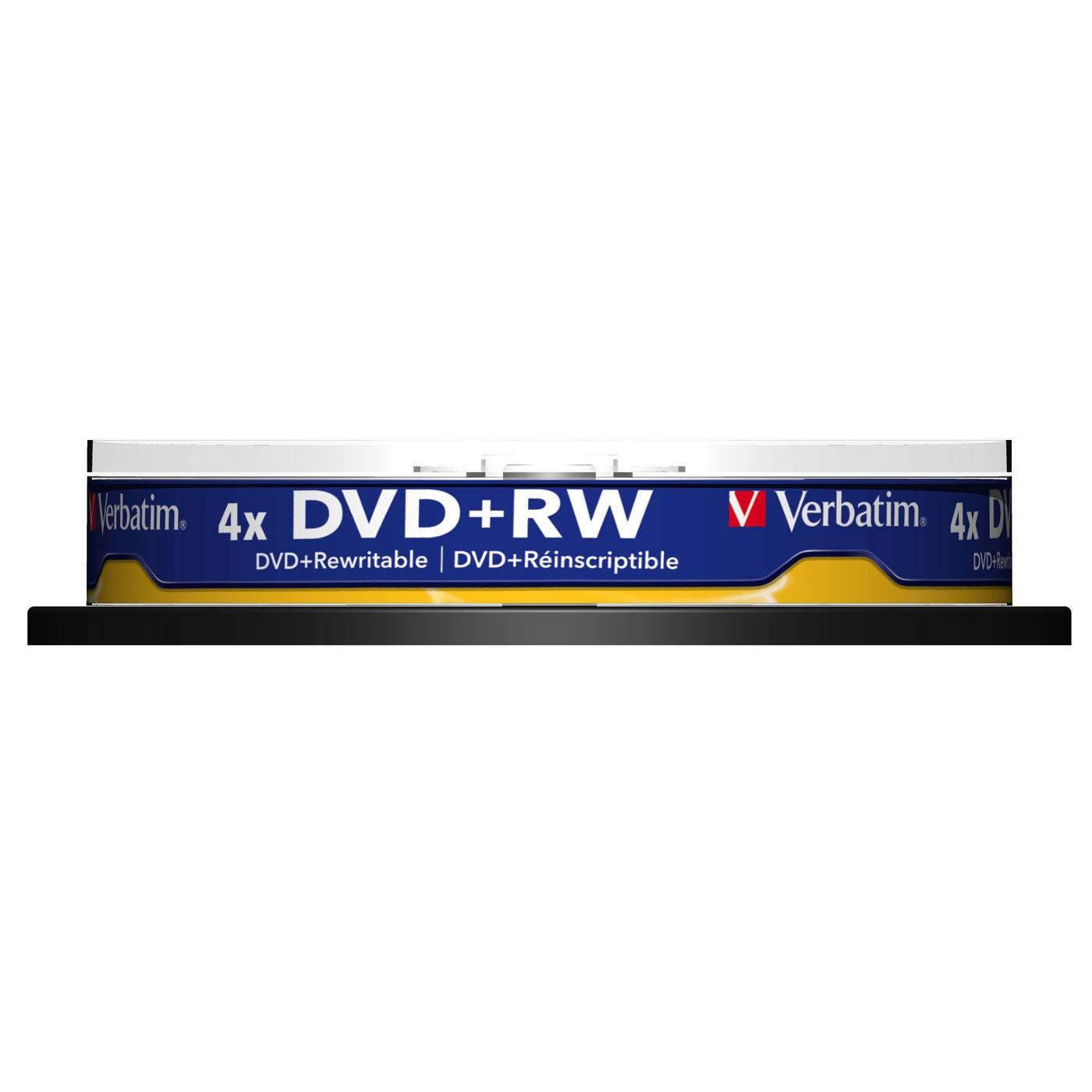 DVD Verbatim DVD+RW 4.7 Go certifié 4x (pack de 10, spindle) Verbatim DVD+RW 4.7 Go certifié 4x (pack de 10, spindle)