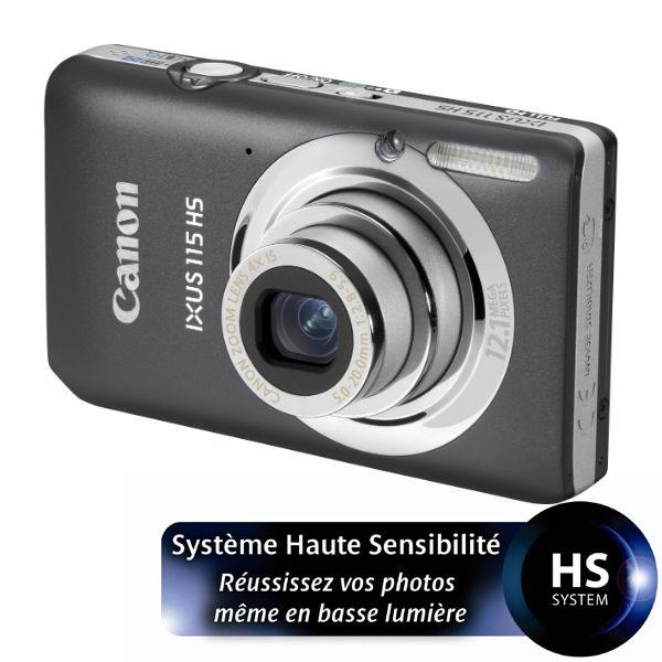 Appareil photo numérique Canon IXUS 115 HS Gris Canon IXUS 115 HS Gris - Appareil photo 12 MP - Zoom Grand-angle 4x - Vidéo Full HD