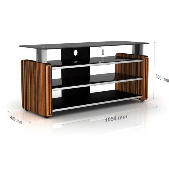 Elmob aura au 105 02 teck meuble tv elmob sur ldlc - Meuble tv pour home cinema ...