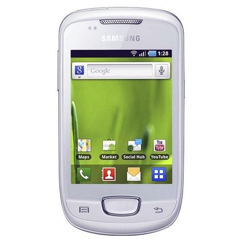 "Mobile & smartphone Samsung Galaxy Mini GT-S5570 Blanc Smartphone 3G+ avec écran tactile 3.14"" sous Android"