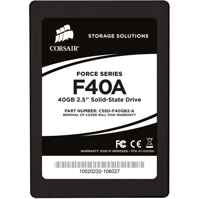 "Disque SSD Corsair Force Series F40A 40 Go SSD 40 Go 2.5"" Serial ATA 3Gb/s"