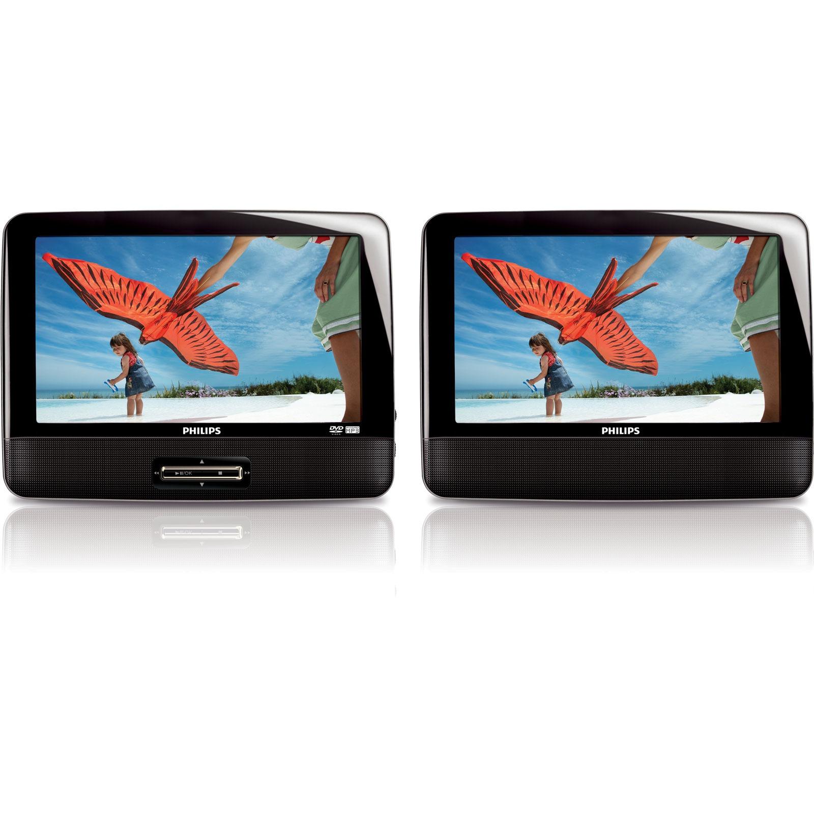 Lecteur dvd portable double ecran for Photo ecran portable