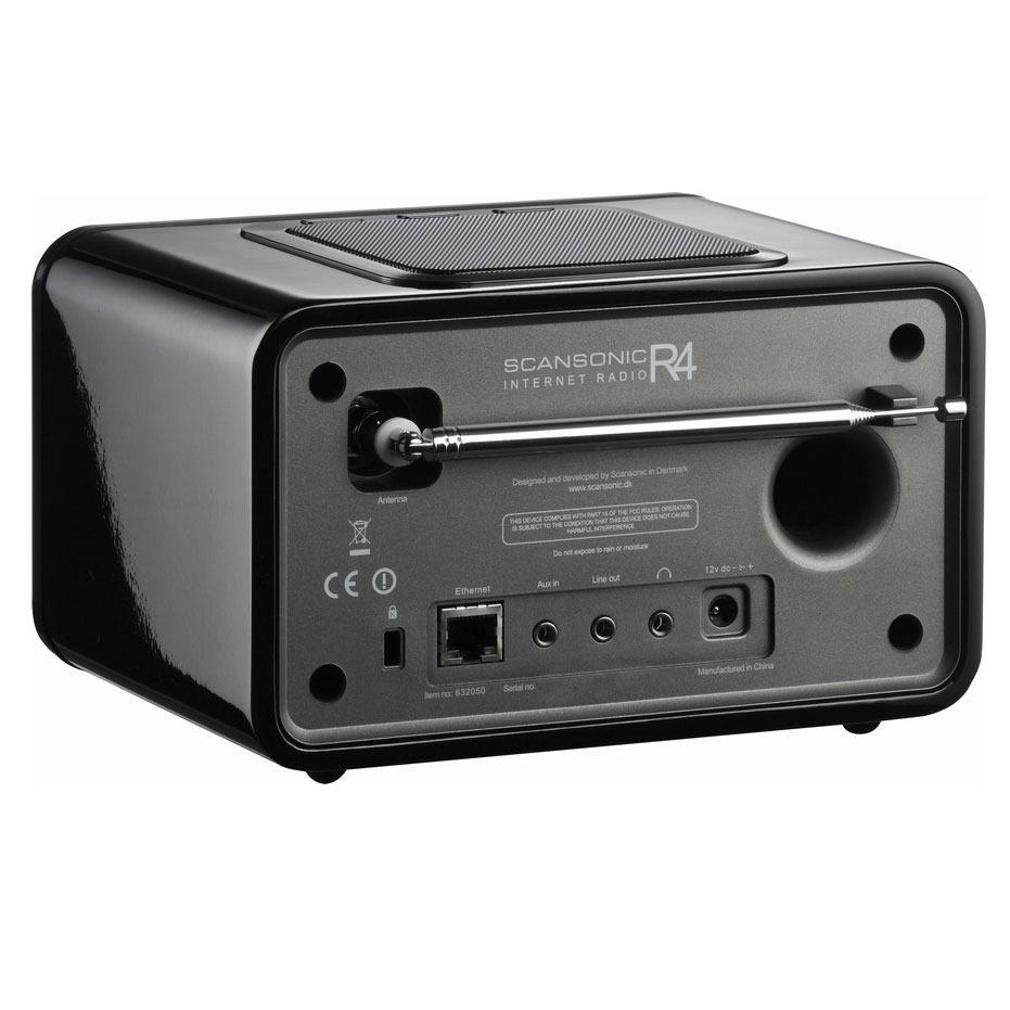 scansonic r4 noir webradio sc r4b achat vente radio radio r veil sur. Black Bedroom Furniture Sets. Home Design Ideas