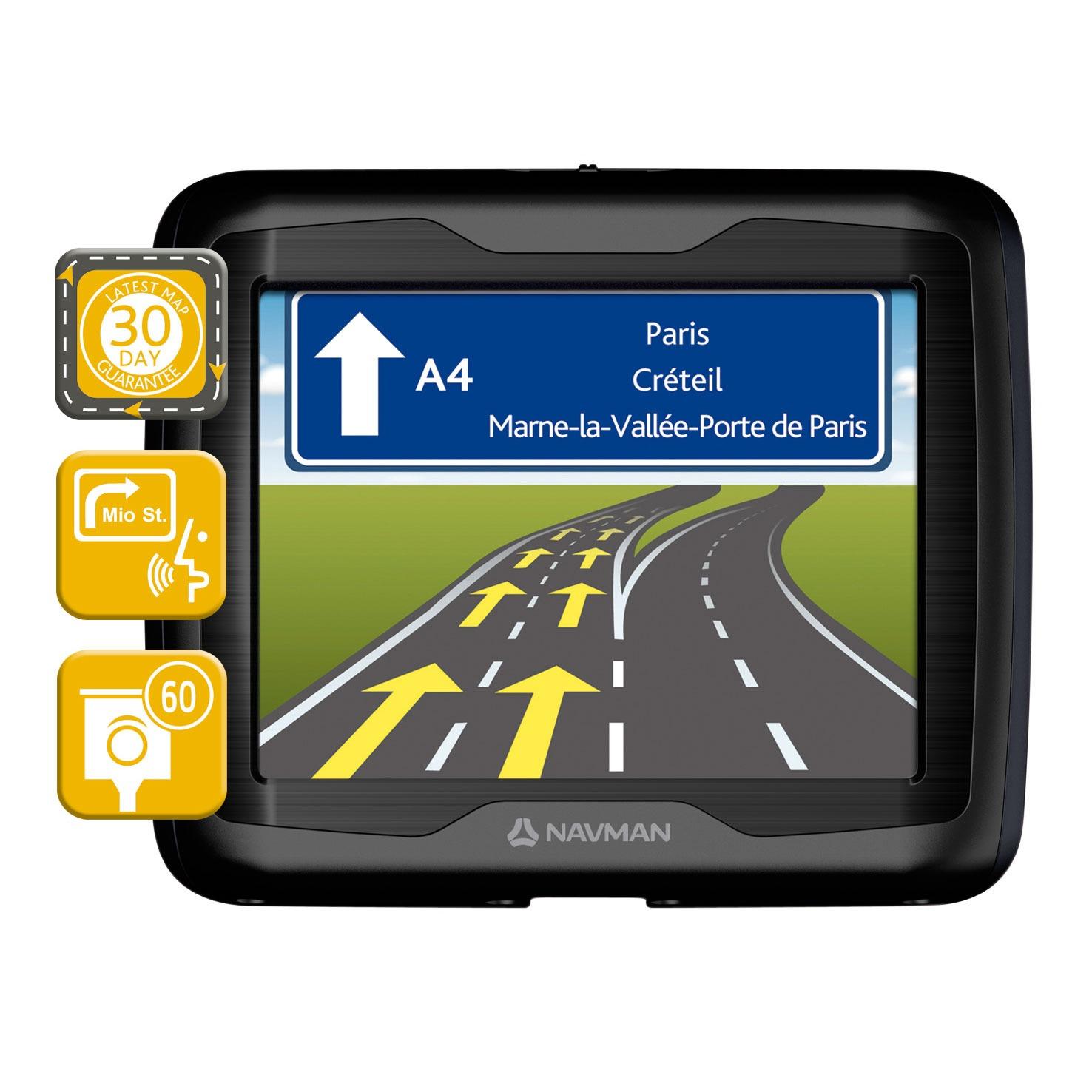 "GPS Navman F360 Europe Navman F360 Europe - GPS 23 pays d'Europe Ecran 3.5"""