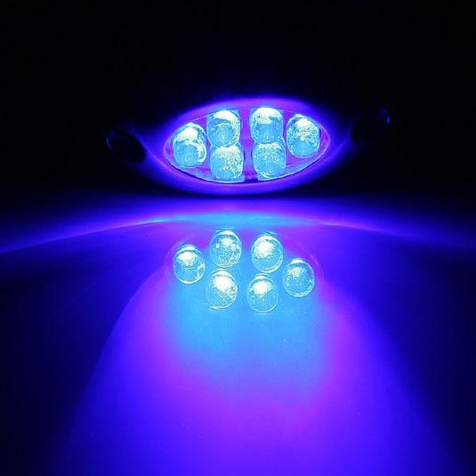 lamptron lazer led bleu 6 leds lamp led601d r achat vente n on pc sur. Black Bedroom Furniture Sets. Home Design Ideas
