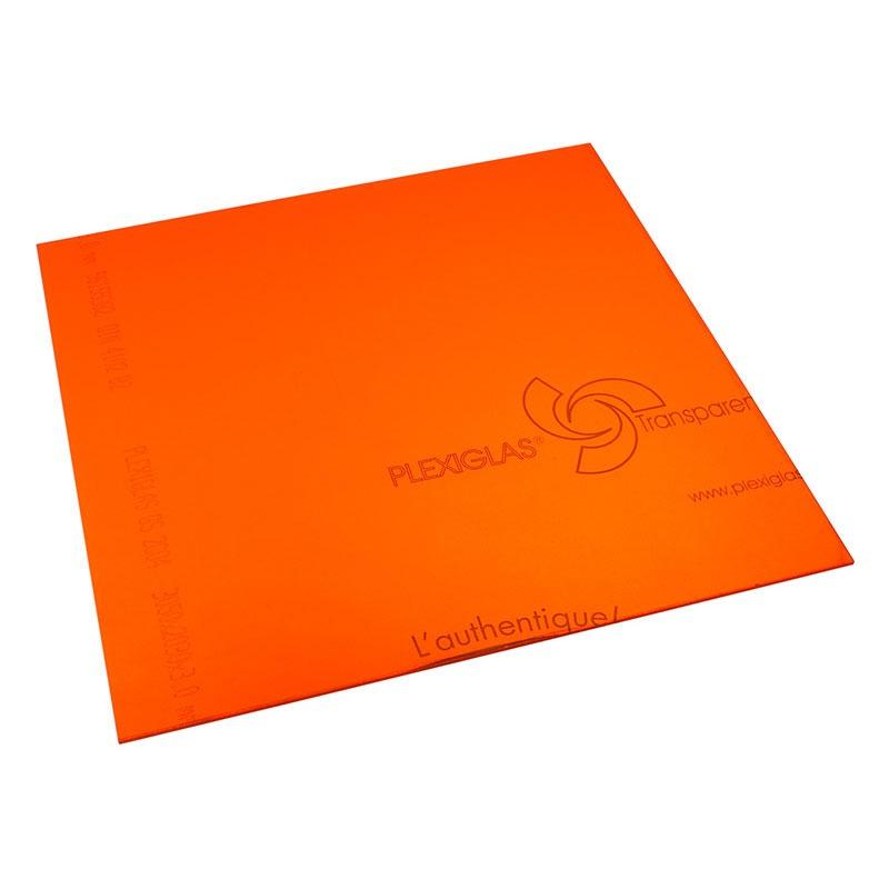Panneau plexiglas transparent orange 400 x 400 mm n a for Fenetre plexiglass