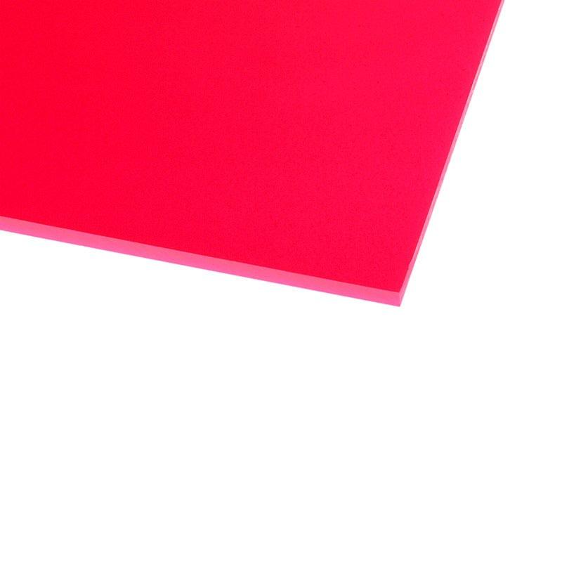 Panneau plexiglas transparent r actif aux uv rouge 500 x for Fenetre plexiglass
