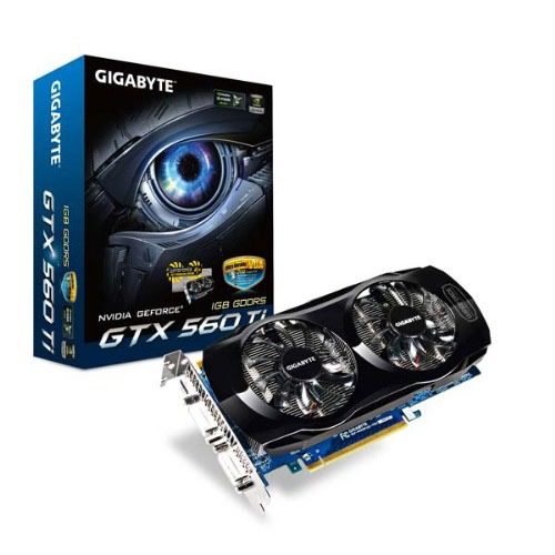Carte graphique Gigabyte GeForce GTX 560 Ti 1024 MB 1024 Mo Dual DVI/Mini HDMI - PCI Express (NVIDIA GeForce avec CUDA GTX 560 Ti)