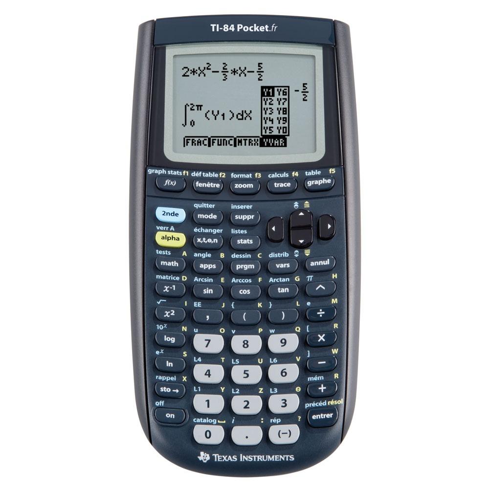 Calculatrice Texas Instruments TI-84 Pocket.fr Texas Instruments TI-84 Pocket.fr - Calculatrice graphique USB