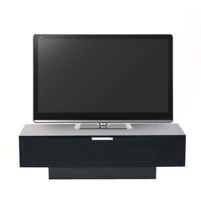 Meuble TV Stilexo Stuk 4001 BL-1 Noir Meuble TV avec porte en verre