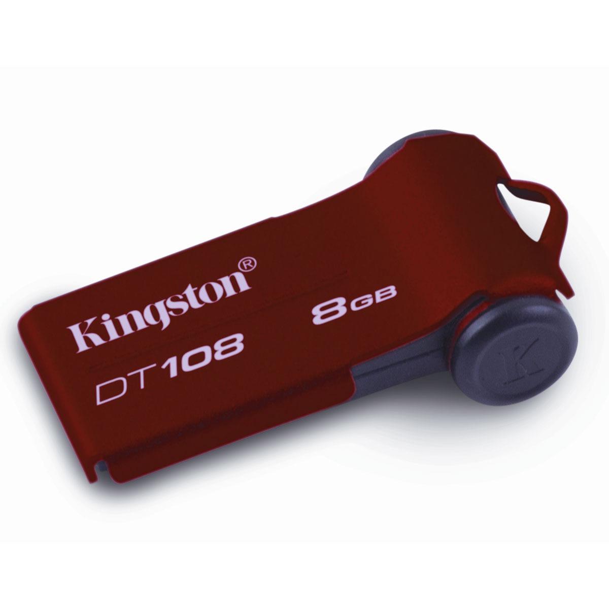 Clé USB Kingston DataTraveler 108 8 Go Kingston DataTraveler 108 8 Go - USB 2.0 (garantie constructeur 5 ans)