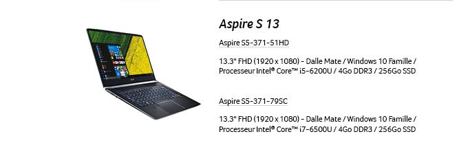 Aspire S 13