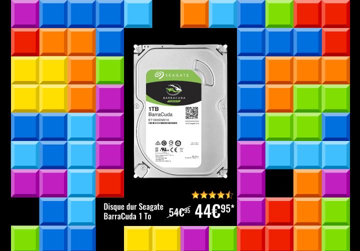 Disque dur Seagate 1To à 44€95 au lieu de 54€95 avec le code GAMEOVER