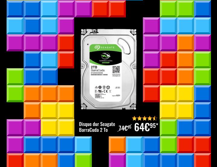 Disque dur Seagate 2To à 64€95 au lieu de 74€95 avec le code GAMEOVER