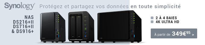 Synology : protégez et partagez vos données en toute simplicité à partir de 349€95