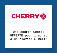 CHERRY - Une souris Gentix OFFERTE pour l'achat d'un clavier STRAIT**