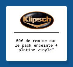 klipsch - 50€ de remise sur le pack enceinte + platine vinyle**