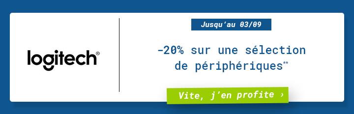 Logitech : -20% sur une sélections de périphériques** ! Vite, j'en profite !
