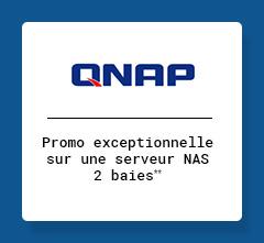 QNAP - Promo exceptionnelle sur un serveur NAS 2 baies**