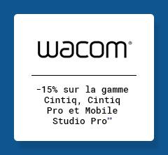 WACOM -15% sur la gamme Cintiq, Cintiq Pro et Mobile Studio Pro**