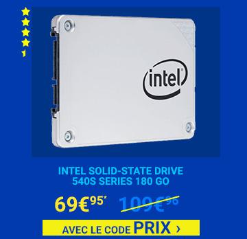 Intel Solid-State Drive 540s Series 180 Go 69€95 avec le code PRIX â€Âº