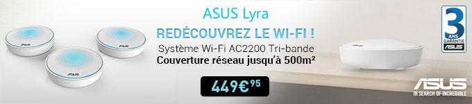 Asus | Redécouvrez le wi-fi ! Système wi-fi AC2200 Tri-Bande à 449€95