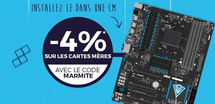 -4%* sur les cartes mères avec le code MARMITE