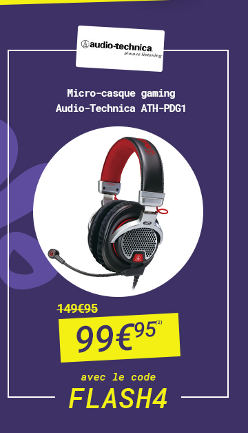 Audio-Technica - Micro-casque gaming Audio-Technica ATH-PDG1 à 99€95 au lieu de 149€95 avec le code FLASH 4