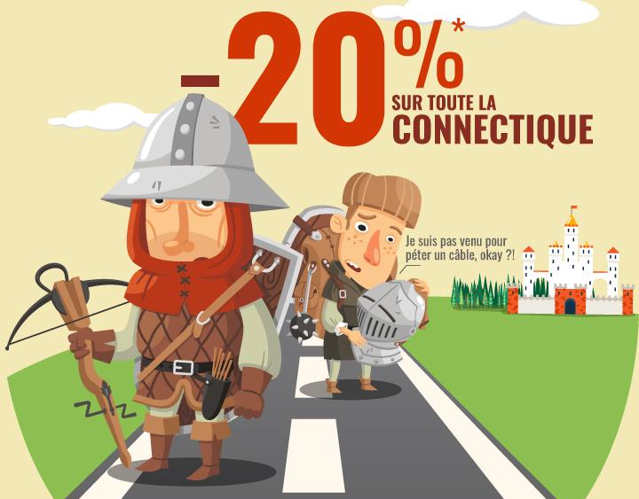 -20%* sur toute la connectique avec le code FROY
