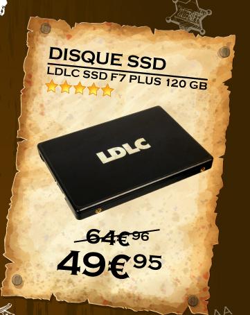 LDLC SSD F7 PLUS 120 GB à de 49.95 au lieu de 64.95