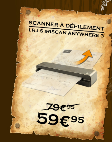 I.R.I.S IRIScan SCANNER est à 59.95 au lieu de 79.95