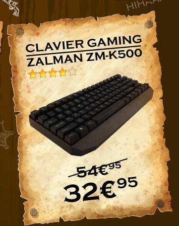 Clavier mécanique ZALMAN à de 32.95 au lieu de 54.95