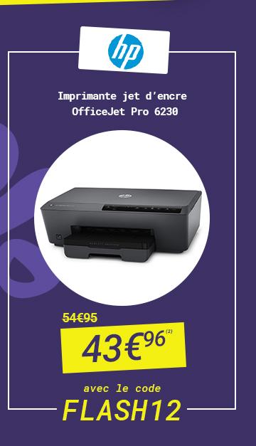 HP - Imprimante jet d'encre OfficeJet Pro 6230 à 43?96 au lieu de 54?95 avec le code FLASH 12