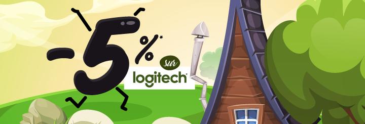-5%* sur la marque Logitech