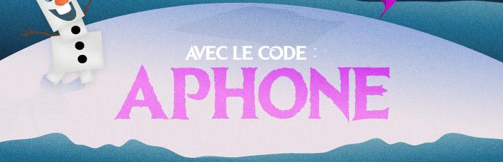avec le code APHONE