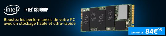 Intel | SSD 660P - Boostez les performances de votre PC avec un stockage fiable et ultra-rapide ! A partir de 84€95 >