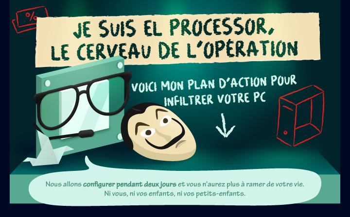 Je suis El processor, le cerveau de l'opération !