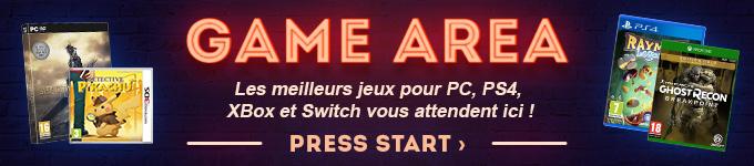 GAME AREA | Les meilleurs jeux PC, PS4, Xbox et Switch vous attendennt ici ! PRESS START ?