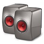 KEF LS50 Wireless Gris titane / Bordeaux