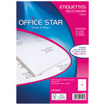 Etiquette Office Star Couleur Blanc