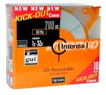 Intenso 10 CD 80mn Certifiés 32x Kick Out